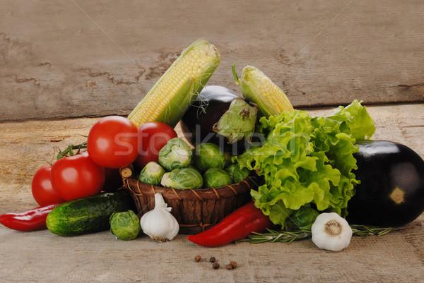 овощей плетеный корзины природы лист Сток-фото © taden
