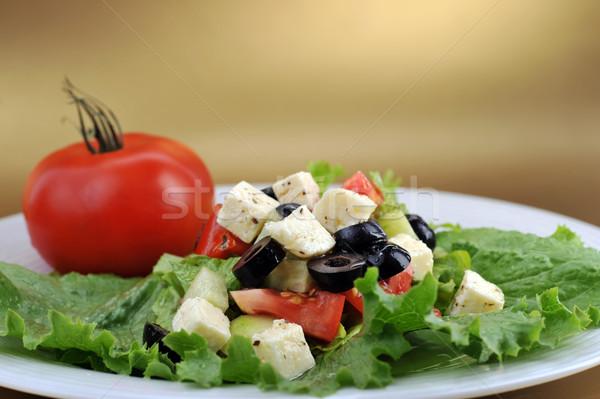 Verse groenten tuin restaurant kip Stockfoto © taden