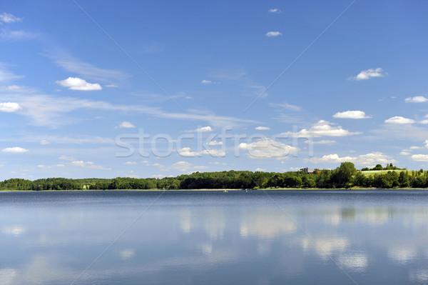Agua lago bosques otro lado Foto stock © taden