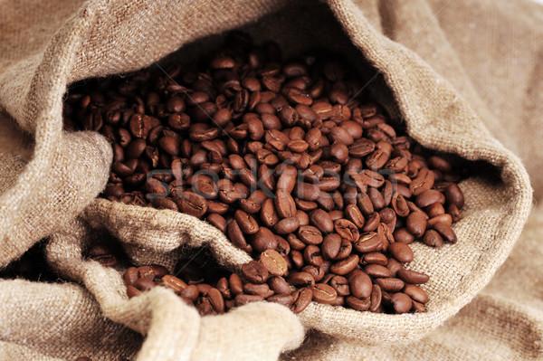 Kahve çok kaba kumaş soyut Stok fotoğraf © taden