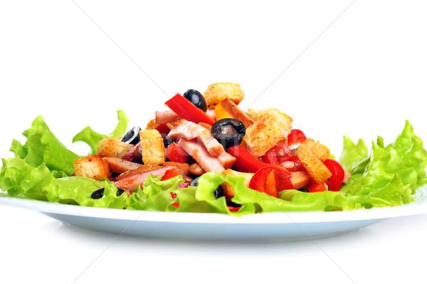 Салат пластина Spice мексиканских мяса белый Сток-фото © taden