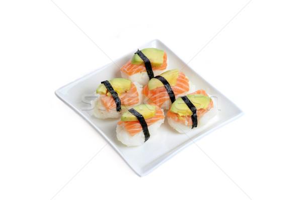 fresh traditional Japanese sushi Stock photo © taden