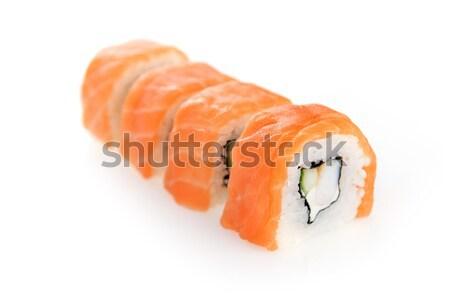 Сток-фото: кусок · лосося · изолированный · рыбы · красный
