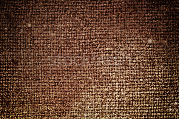 Rectangle from  brown saskcloth background Stock photo © taden
