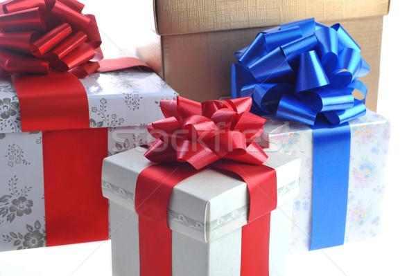 подарки стоять белый поверхность рождения красоту Сток-фото © taden
