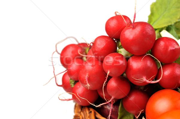 Rosso ravanello completo basket pomodoro frutta Foto d'archivio © taden