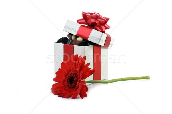 異なる チョコレート ボックス ギフトボックス コピースペース 愛 ストックフォト © taden