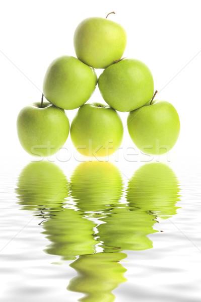 Alma fehér izolált absztrakt gyümölcs zöld Stock fotó © taden