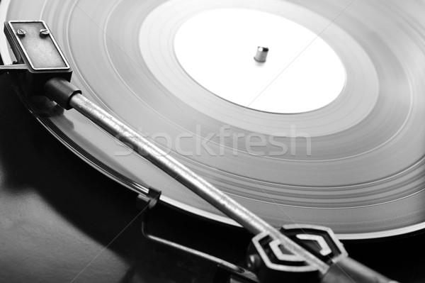 Vinyl schijf record draaitafel ontwerp Stockfoto © taden