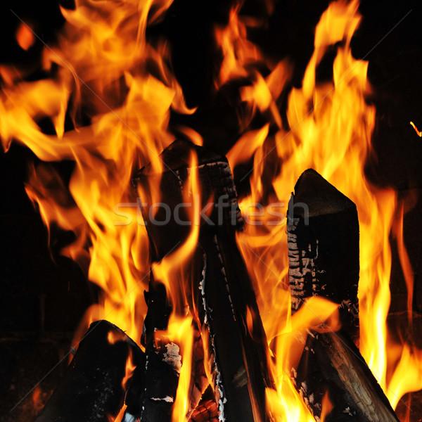 Parlak alev yangın karanlık soyut doğa Stok fotoğraf © taden