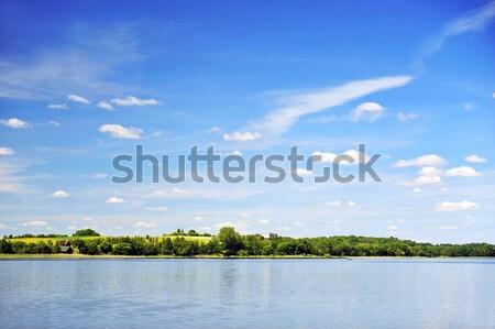 lake landscae Stock photo © taden