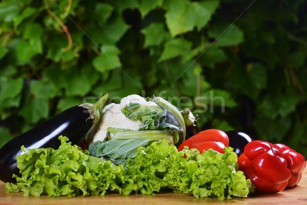 Verduras frescas alimentos naturaleza diseno fondo Foto stock © taden