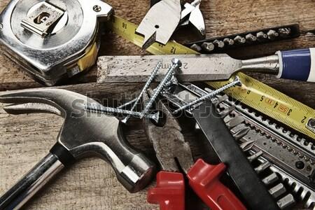 Diverso strumenti set legno abstract sfondo Foto d'archivio © taden