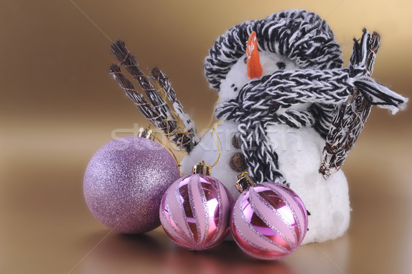 雪だるま クリスマス ツリー 背景 ボックス ストックフォト © taden