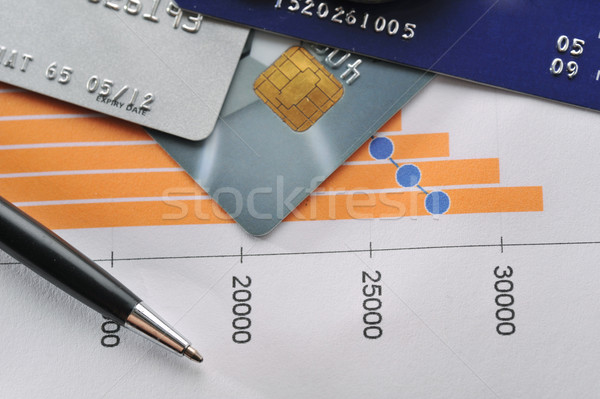 Pénz pénzügyi grafikonok egyéb stock üzlet Stock fotó © taden