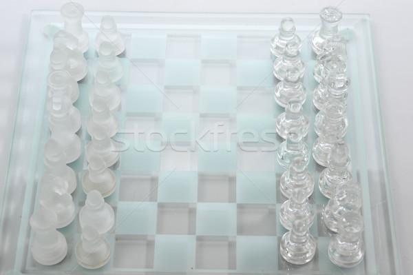 Szachownica gotowy gry sportu szachy grupy Zdjęcia stock © taden