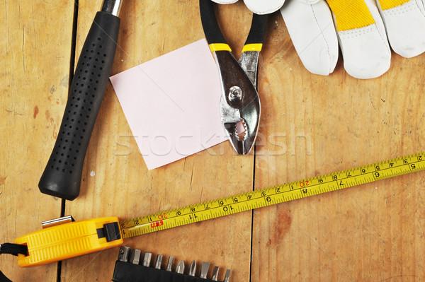 Metal guanti carta lavoro lavoro Foto d'archivio © taden
