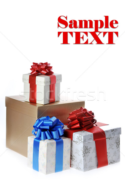 packed gifts Stock photo © taden