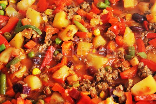 肉 準備 おいしい 野菜 キッチン 油 ストックフォト © taden