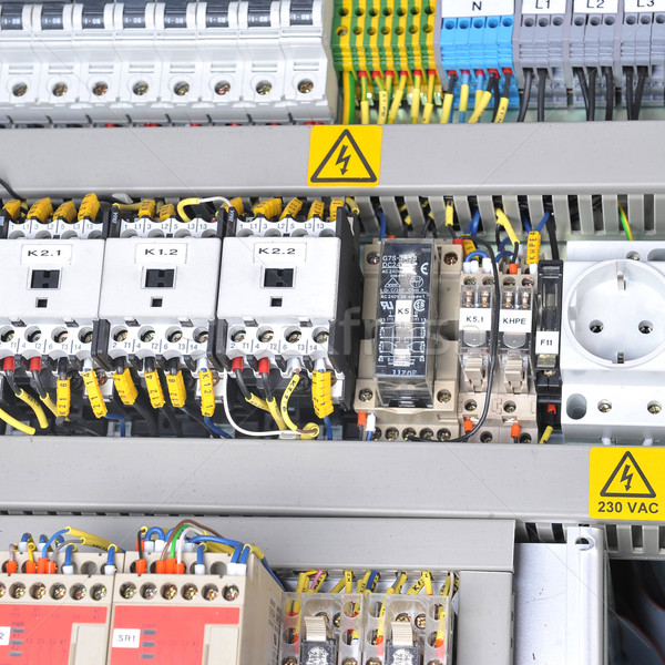 panel with  electrical equipment Stock photo © taden