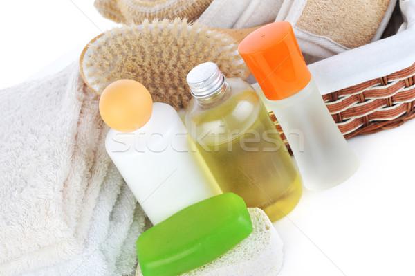 Molti asciugamani accessori mentire tavola Foto d'archivio © taden