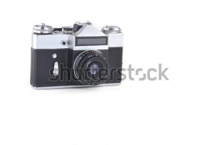 Velho retro câmera branco fundo metal Foto stock © taden