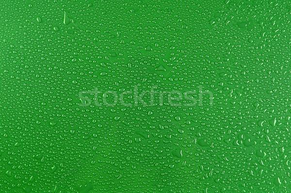 Gotas de agua verde naturaleza diseno fondo azul Foto stock © taden