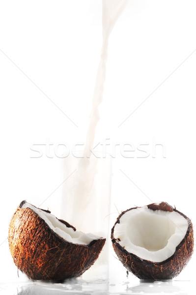 Coconut milk  in glass  Stock photo © taden