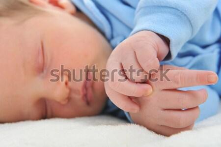 ребенка Cute спальный белый Сток-фото © taden