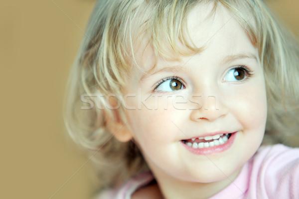 Nina retrato rubio cara ninas cabeza Foto stock © taden