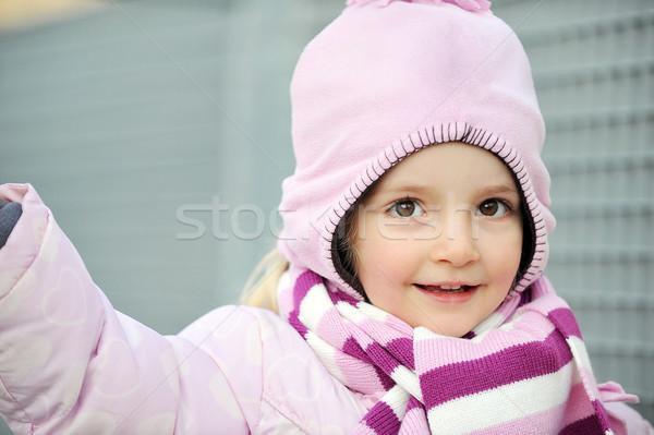 город девушки играет тротуаре мало ребенка Сток-фото © taden