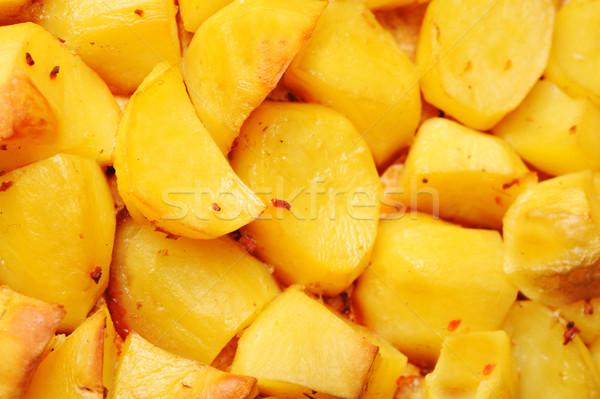 Patates parçalar lezzetli aile et Stok fotoğraf © taden