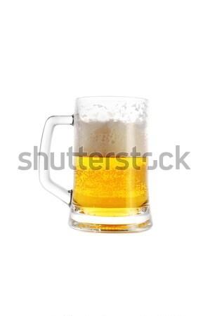 Sör bögre közelkép szemüveg arany italok Stock fotó © taden