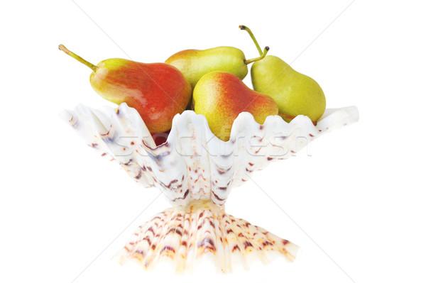 Stockfoto: Smakelijk · peren · rijp · witte · vaas · natuur