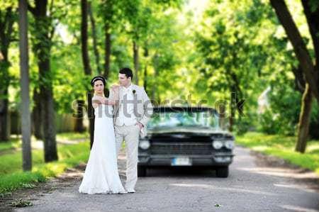 花嫁 新郎 結婚式 カップル 車 結婚式 ストックフォト © taden