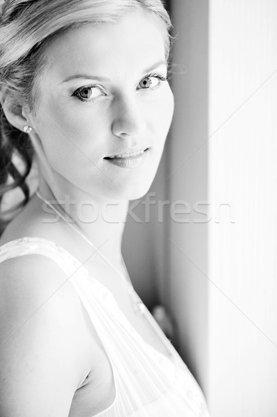 невеста портрет студию красивой лице Сток-фото © taden