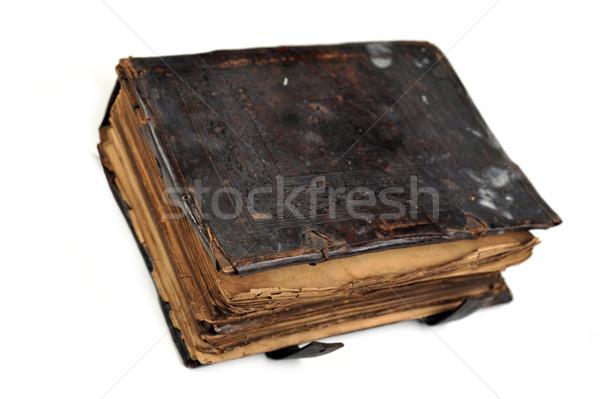 Oud boek geïsoleerd witte boek onderwijs bibliotheek Stockfoto © taden