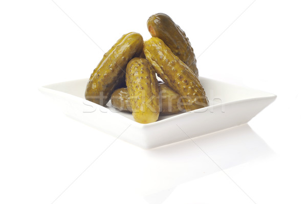 pickles on plate isolated on white Stock photo © taden
