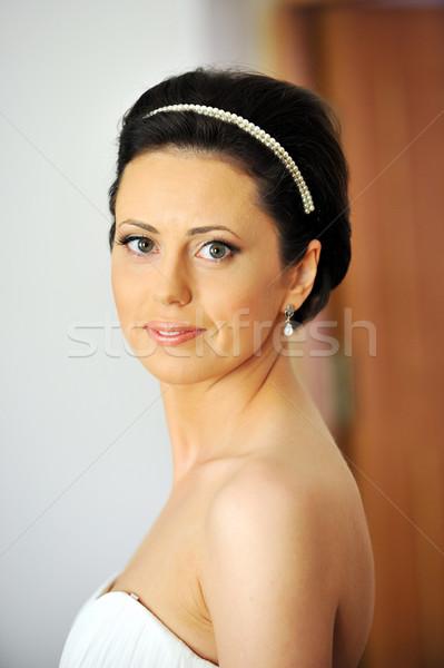 Porträt schönen Braut Studio stylish Hochzeit Stock foto © taden