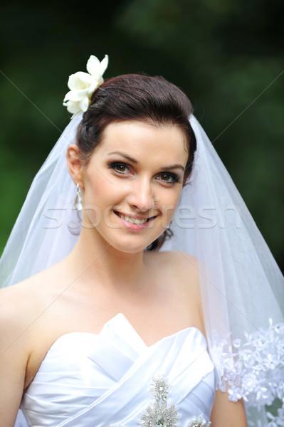 bride in white dress Stock photo © taden