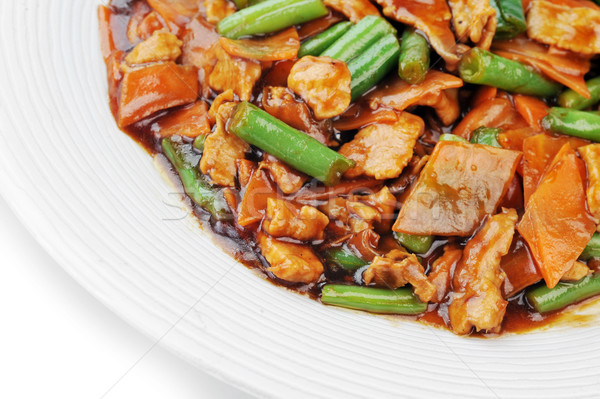chinese food on plate close up Stock photo © taden