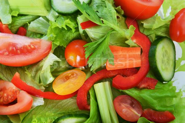 Salata sebze marul taze sebze gıda Stok fotoğraf © taden