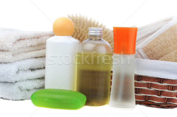 many towels and accessories to bathing Stock photo © taden