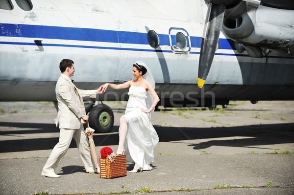 невеста жених лет свадьба путешествия человека Сток-фото © taden