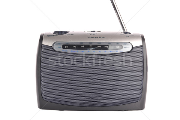 retro  grey radio Stock photo © taden