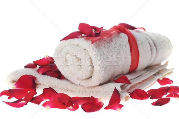 Handdoek bureaucratie liggen tabel lichaam gezondheid Stockfoto © taden
