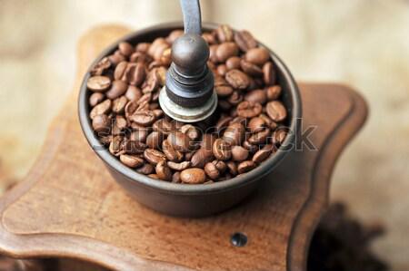 Manual café vintage granos de café aislado Foto stock © taden
