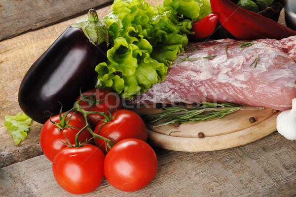 Crudo carne hortalizas alimentos rojo Foto stock © taden