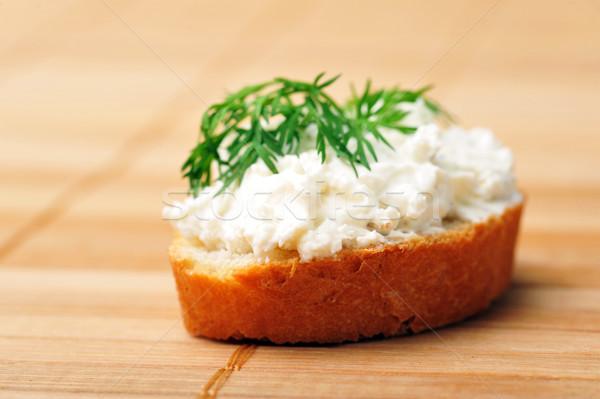 Sandwich geroosterd brood heerlijk groene kaas Stockfoto © taden