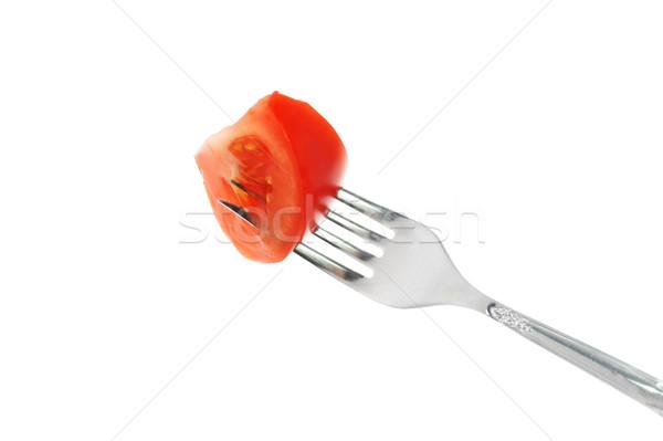 томатный Plug ломтик красный вилка еды Сток-фото © taden